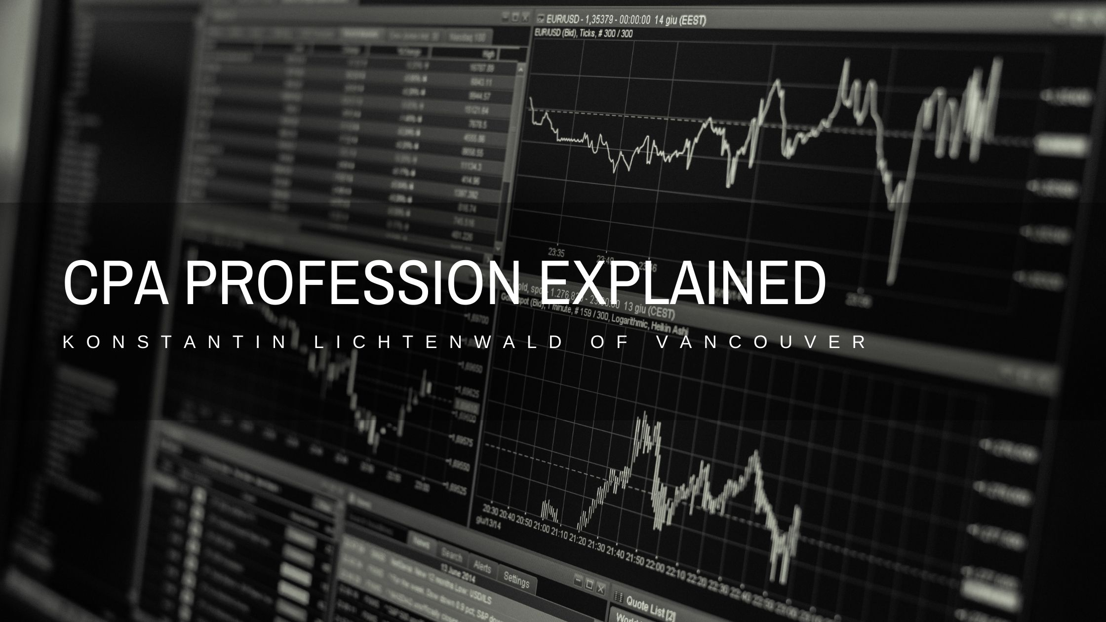 Konstantin Lichtenwald of Vancouver Explains The CPA Profession